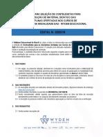 EDITAL PARA SELEÇÃO DE CONTEUDISTAS