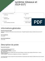 Portail de la Fonction Publique _ Page offre - 1 architecte système r(éseaux et sécurité (sp 2019-037), Communes, France, Occitanie , Hérault (34).pdf
