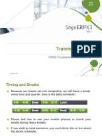 sage x3  Fundamentals Manufacturing