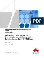iManager U2000 V200R016C60 Cold Standby & Single-Server System Software Installation and Commissioning Guide (SUSE Linux) 13(pdf)-C