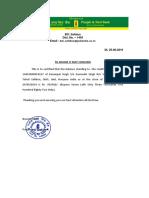 punjab and sind balance certificate