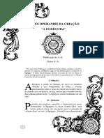 """MODUS OPERANDIS DA CRIAÇÃO """"A EGRÉGORA"""" Publicação AE Classe A"""