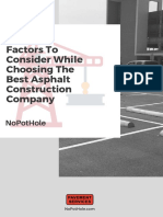 5 Factors To Consider While Choosing The Best Asphalt Construction Company