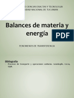 G. Balances de materia y energia