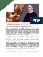 MENSAGEM DO PADRE MICHAEL BREHL PARA FESTA DE SANTO AFONSO