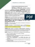 Contrato 001 de  Prestacion de Servicios