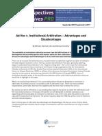 Ad hoc vs Institutional Arbitration
