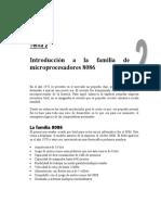 Tema 02 - Introduccion a la familia de procesadores 8086