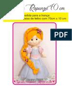 Molde Rapunzel com 40 CM em PDF