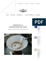 Fases de La Extraccion del cafe