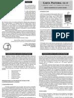 Carta Pastoral Mar del Plata resumen