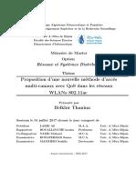 Proposition d'une nouvelle méthode d'accès multi-canaux avec qos dans les réseaux wlans 802.11ac
