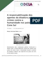 A responsabilização dos agentes da ditadura pelos crimes contra a humanidade nos países do Cone Sul – Observatório do Estado Latino-Americano _ ODELA.pdf