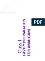 Class I Cavity Preparation for Amalgam [Compatibility Mode]