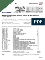 1-71 AUDI Quattro antiguo Letras distintivas de motor WR, GV con motor de