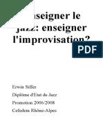 Enseigner Le Jazz