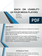 Compare Usability Of 5 Media Player Presentation