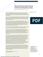 Association Between Psychotherapy Content and Clinical Outcomes Using Deep Learning