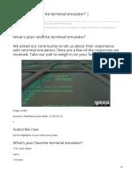 favorite terminal emulator