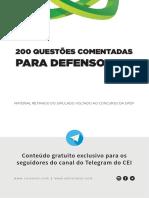 200 questões para DPE