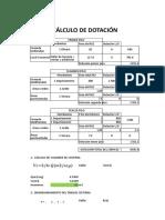 CÁLCULO DE DOTACIÓN.xlsx