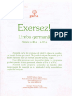Exersez. Limba Germana