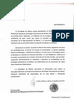Solicitud de seguridad para embajada en La Paz (29 nov)