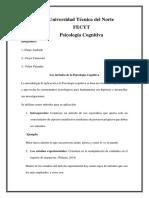 Méodos de La Psicologìa Cognitiva