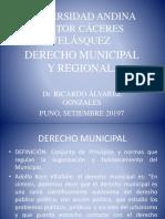 DERECHO MUNICIPAL UANCV 2019