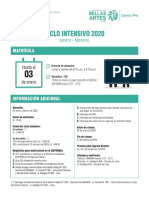 Ampliación ciclo intensivo Centro Pre 2020