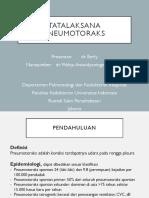 Dikusi Topik dr. Berly Tatalaksana Pneumotoraks