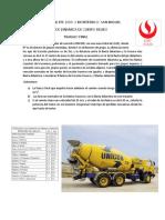 TRABAJO FINAL EPE GRUPO  2019-2 Monterrico y San Miguel camión mezclador de concreto UNICON