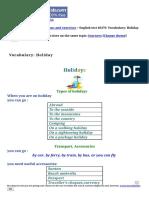 Vocabulary_ Holiday-English