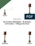 Alte Versammlung Exklusive Darbysten/Die Leuchter Philadelphia - Herbert Ebert