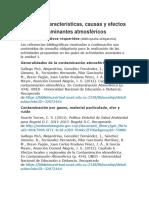Unidad 1 -Características, causas y efectos de los contaminantes atmosféricos