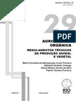Agricultura Orgânica - Regulamentos técnicos da produção vegetal e animal