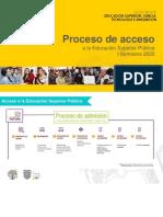Proceso de Acceso Educación Superior - IS2020_Difusión noviembre