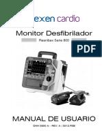 Manual de Usuario Desfibrilador Bexen Reanibex 800
