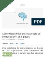 Cómo desarrollar una estrategia de comunicación en 8 pasos