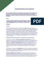 Impacto de la economía electrónica en las empresas europeas