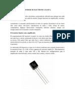 INFORME DE ELECTRONICA BASICA
