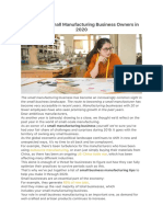 26 Tips for Small Manufacturing Business Owners in 2020