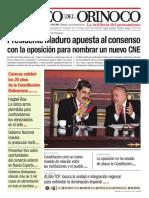 Edición Impresa Correo del Orinoco Nº 3.648 Lunes 16 de diciembre del año 2019