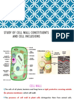 Study of cellwall constituents and cell inclusions