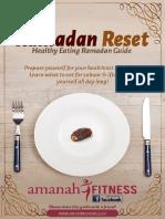 Ramadan Reset - Healthy Ramadan Checklist by Amanah-Fitness