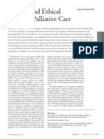 Clinical and Ethical Issues in Palliative Care