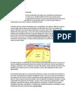 Tectónica de placas y sedimentacion