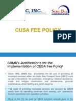 SBMA CUSA Fee Pres for SBGP Locators