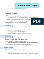 Set Operations, Venn Diagram  Module