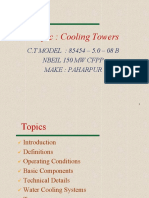 Cooling tower lecturer